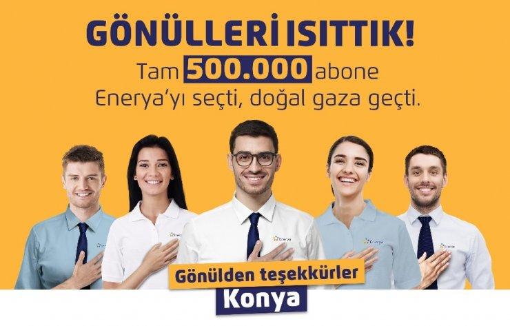 Enerya Konya'daki 500 bininci aboneye elektrikli bisiklet hediye etti