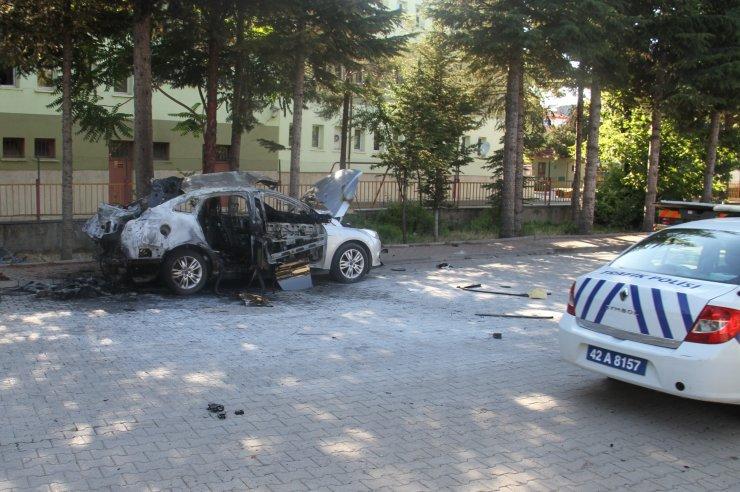 Konya'da otomobilini çalıştırmasıyla patlaması bir oldu