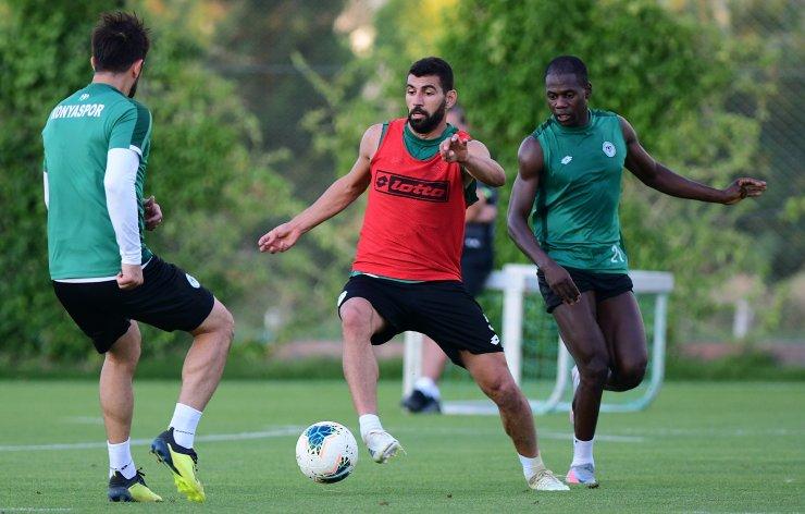 Konyaspor, Trabzonspor maçı için antrenmana çıktı