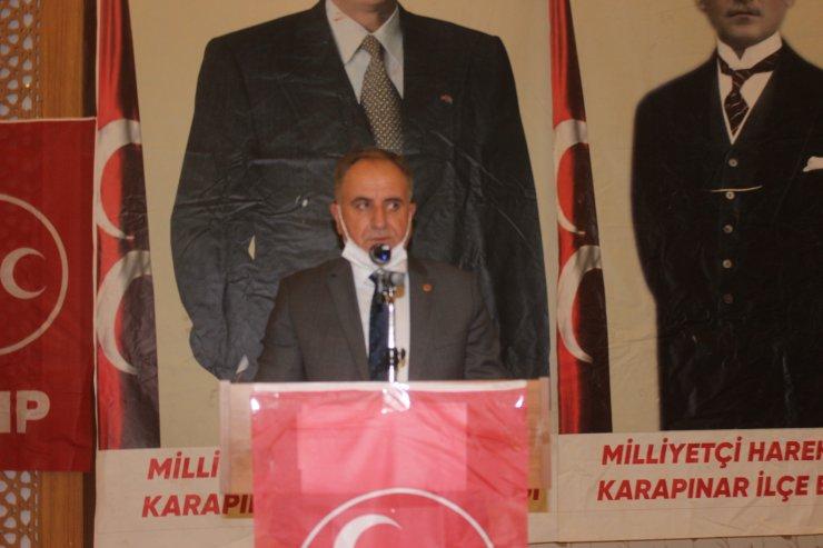 MHP Konya Karapınar'da Ercan Alp yeniden başkan