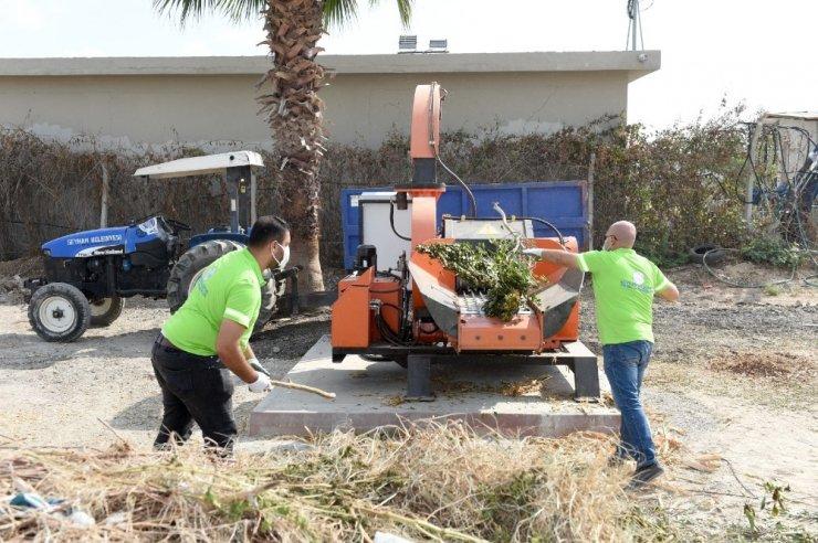 Atık çim ve ağaç dalları saman oluyor