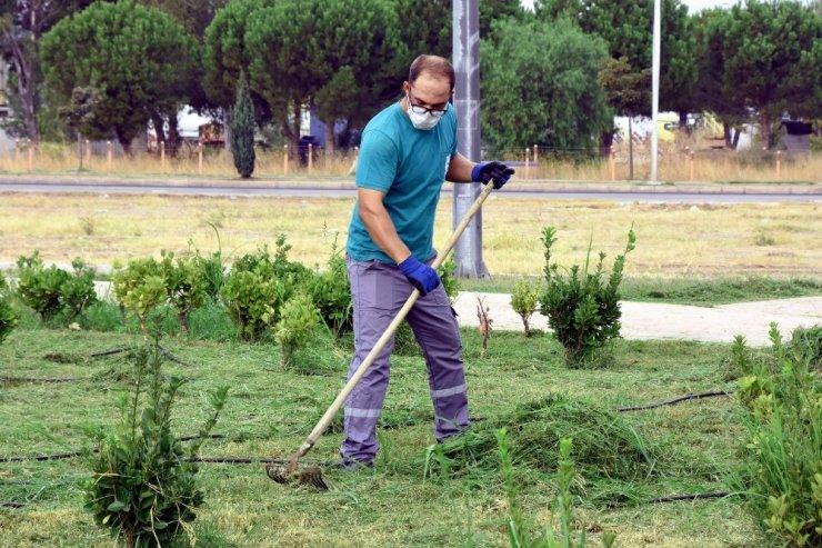 Aliağa'da park ve yeşil alanlar pırıl pırıl