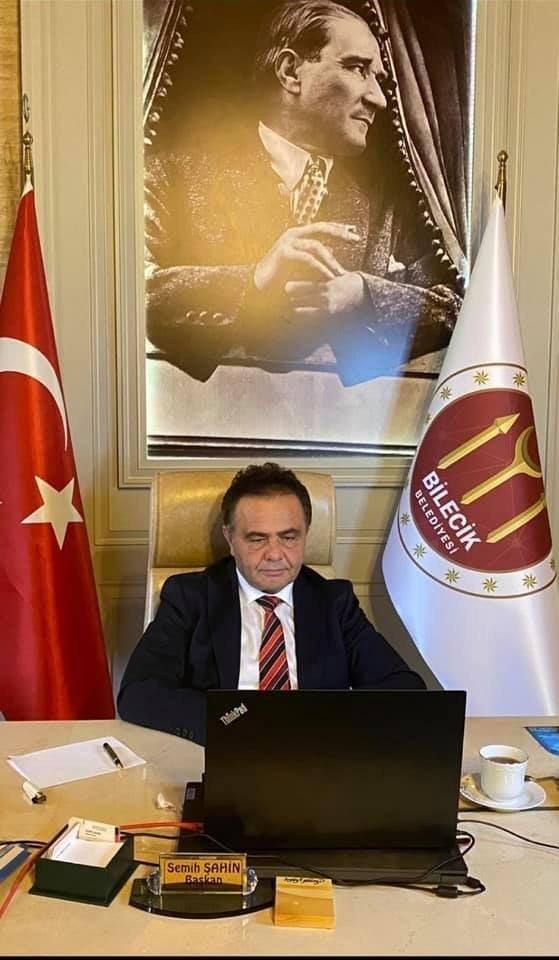 Başkan Şahin, Kılıçdaroğlu ile telekonferans sistemiyle görüştü