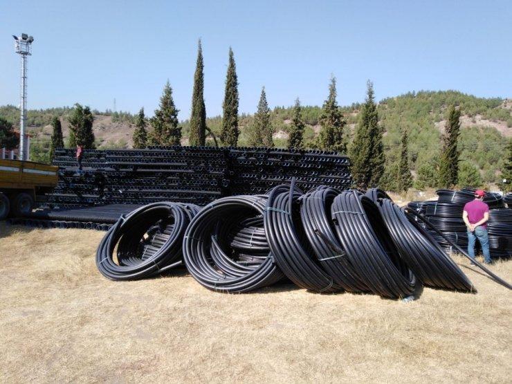 Karabük'te içme suyu ve kanalizasyon borularının dağıtımına başlandı