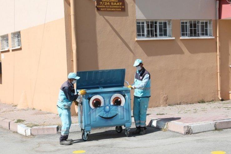 Kocasinan'ın çöp konteynerlerine estetik dokunuşlar