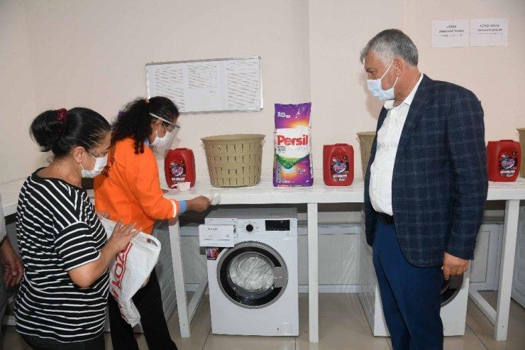 Çamaşır yıkama merkezi açıldı