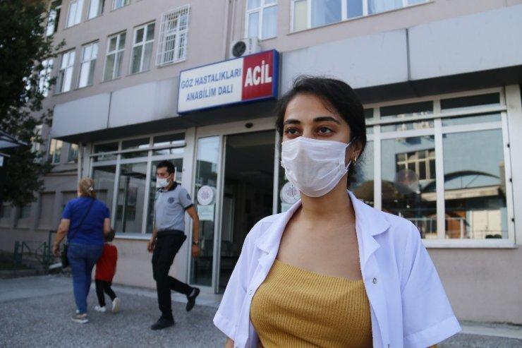 Darp edilen hastane personeli görme yetisini kaybedebilir