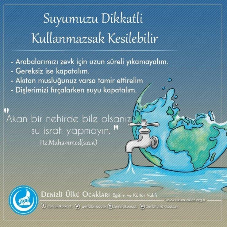 Denizli'de su israfını önlemek için kampanya başlatıldı