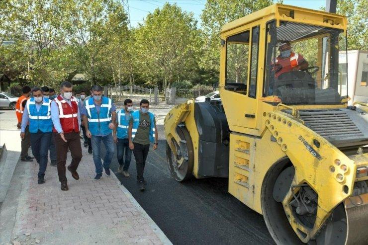 Başkan Bozkurt, Asfalt ve Parke çalışmalarını yerinde inceledi