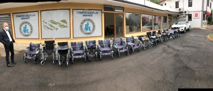 Karabük'te 20 adet tekerlekli sandalye dağıtıldı