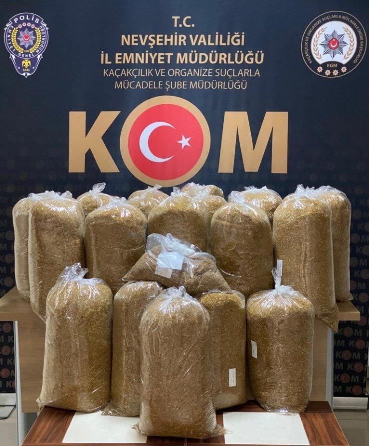 Yol kontrol noktasında 111 kilo kaçak tütün ele geçirildi