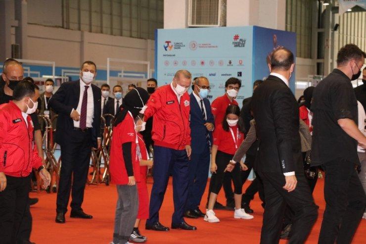 Cumhurbaşkanı Erdoğan Teknofest alanında