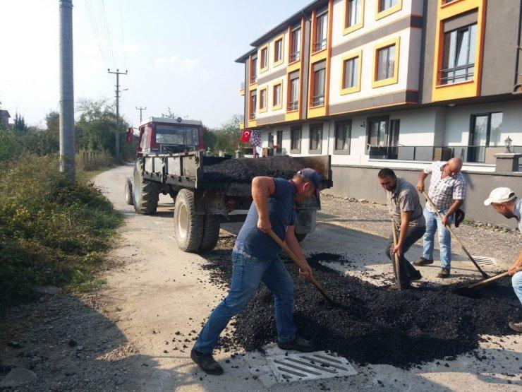 Bozuk asfaltlarda yamalar sürüyor