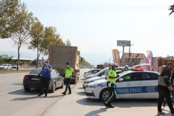 Düzce'de hız yapan sürücülere ceza yağdı