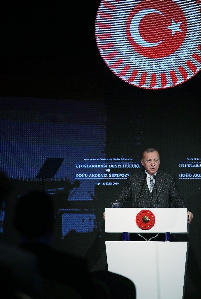 """Cumhurbaşkanı Erdoğan: """"Türkiye ve KKTC'nin yer almadığı hiçbir denklemden Akdeniz barışı çıkmaz"""""""