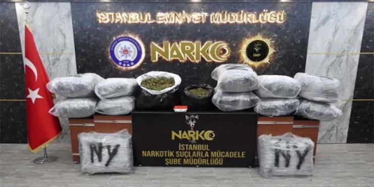 İstanbul'da üç katlı villaya uyuşturucu baskını: 188 kilo Hint keneviri bitkisi ele geçirildi