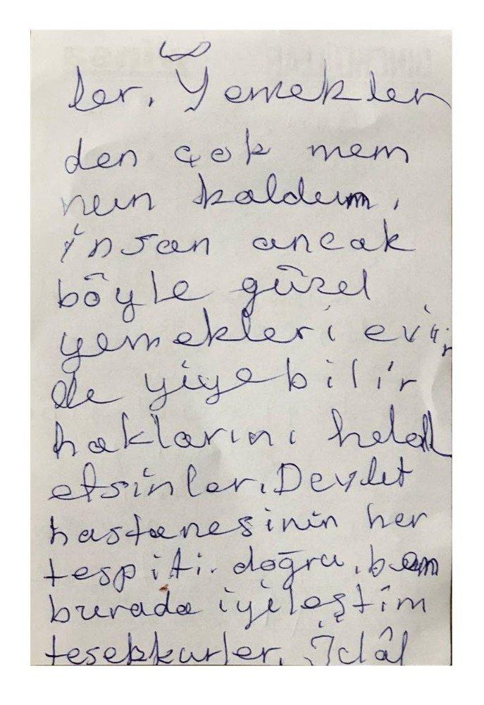 Covid-19 hastasından duygulandıran mektup