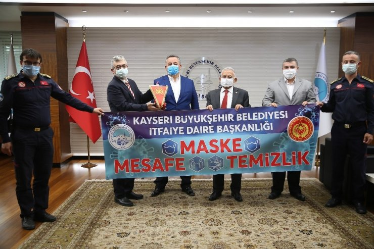 Büyükkılıç'a 'İtfaiye Haftası' ziyareti