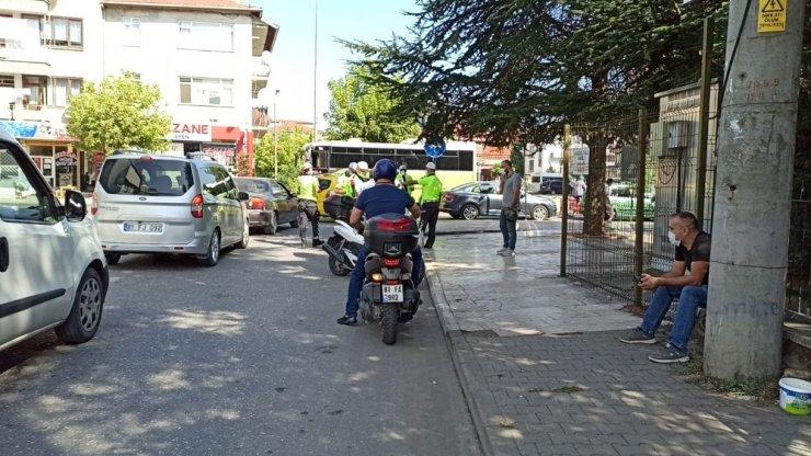 Düzce'de motosiklet sürücülerine ceza yağdı