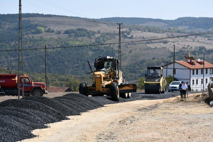 Safranbolu'da köy yolları asfaltlanıyor