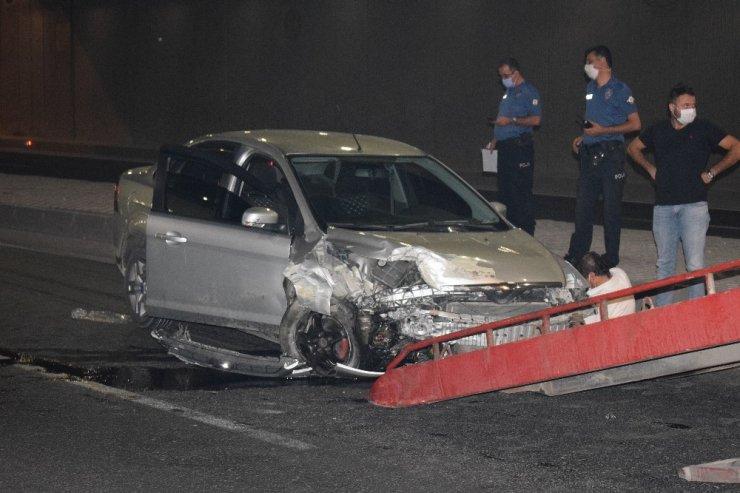 Malatya'da alt geçitte trafik kazası: 2 yaralı