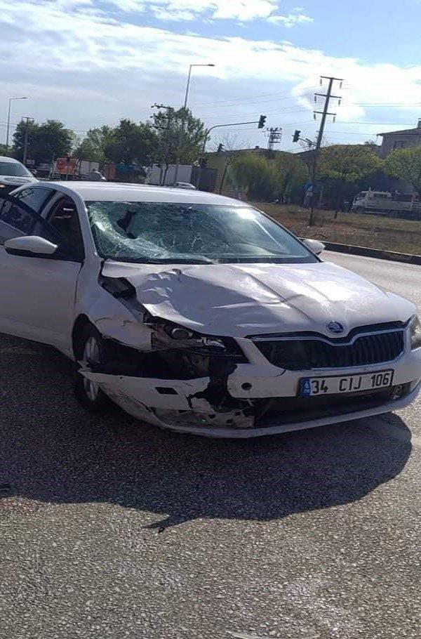 Düzce'de motosikletle otomobil çarpıştı: 1 ağır yaralı