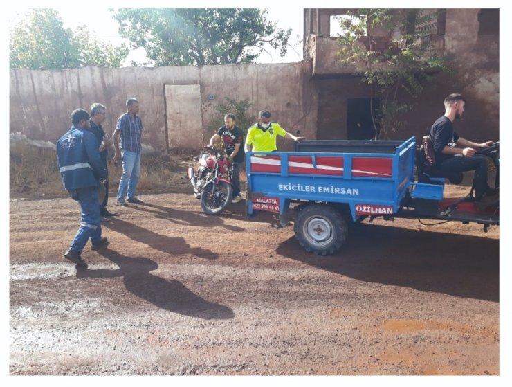 Motosiklet hırsızları kaza yapınca yakalandı
