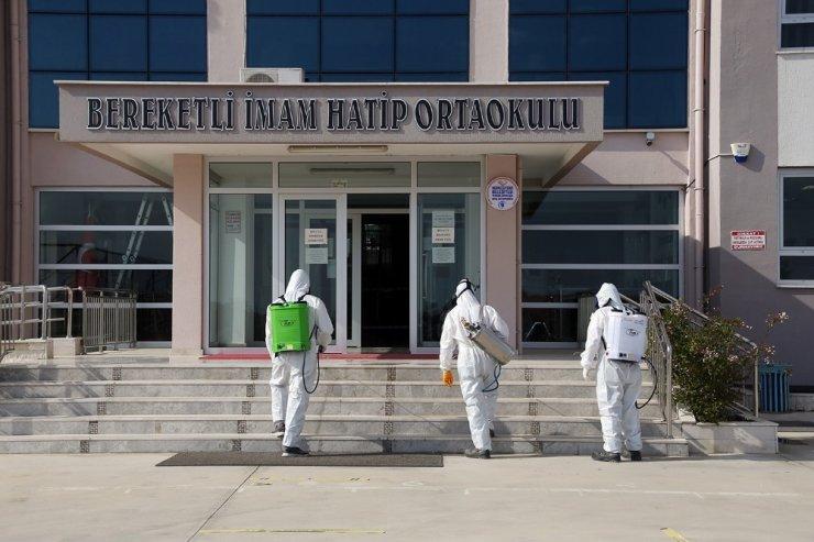 Merkezefendi Belediyesi okulları dezenfekte etti