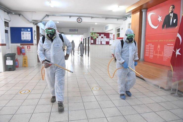 Konyaaltı'nda okullarda pandemi önlemleri