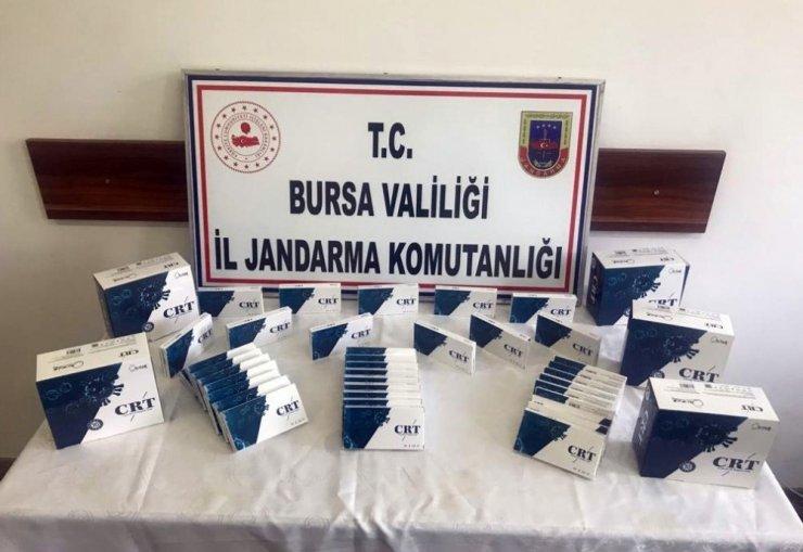 Bursa'da kaçak test kiti operasyonu