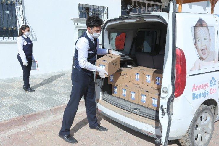 Gaziantep'te anne adaylarına 943 bin litre süt dağıtıldı