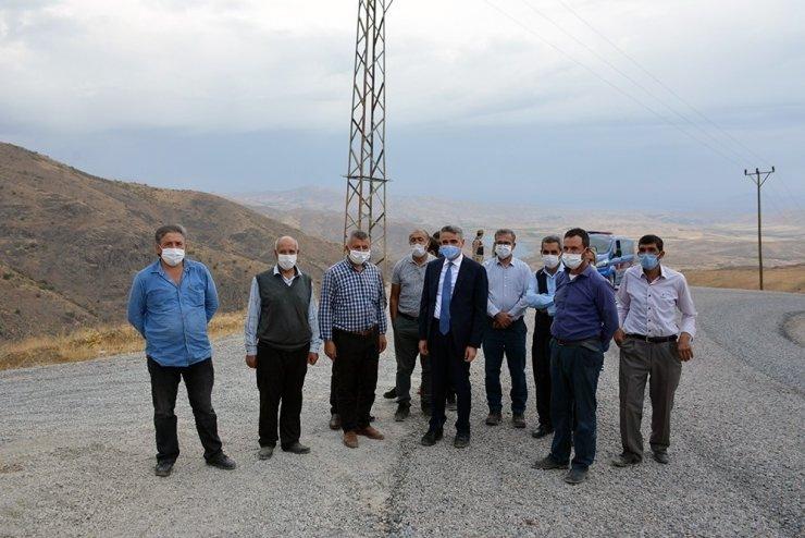 Kamıştaş'ta deprem konutları için düşünülen alanlar incelendi