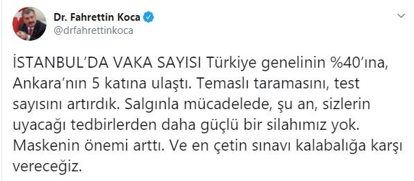 Ankara koronavirüs vaka sayıları