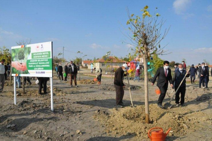 Akşehir Belediyesinden 200 ağaç fidanı