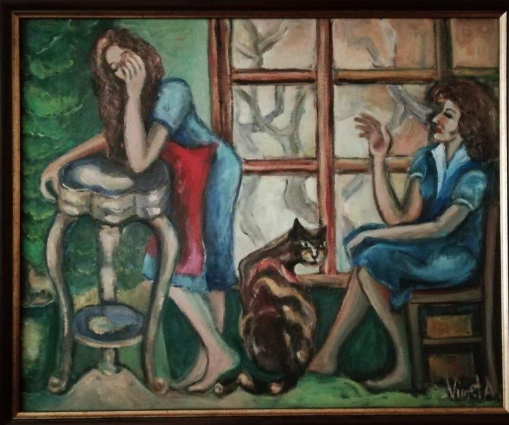 Alzheimer hastası yaptığı resimleri sanatseverlerle buluşturacak