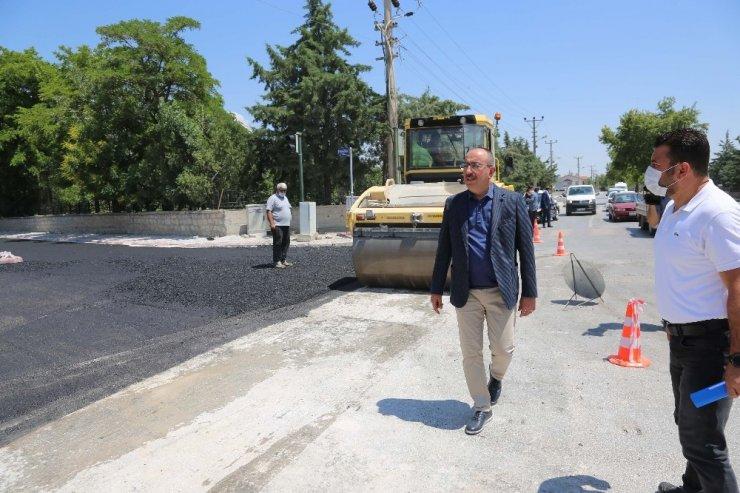 """Başkan Kavuş: """"Asfaltsız tek bir metre yol kalmayıncaya kadar durmayacağız"""""""