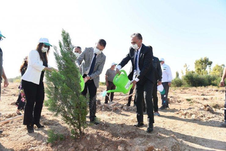 Muratpaşa'da fidanlar toprakla buluştu
