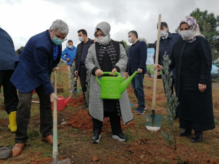 Sancaktepe'li öğrenciler toprağa fidan dikerek geleceğe nefes oldu
