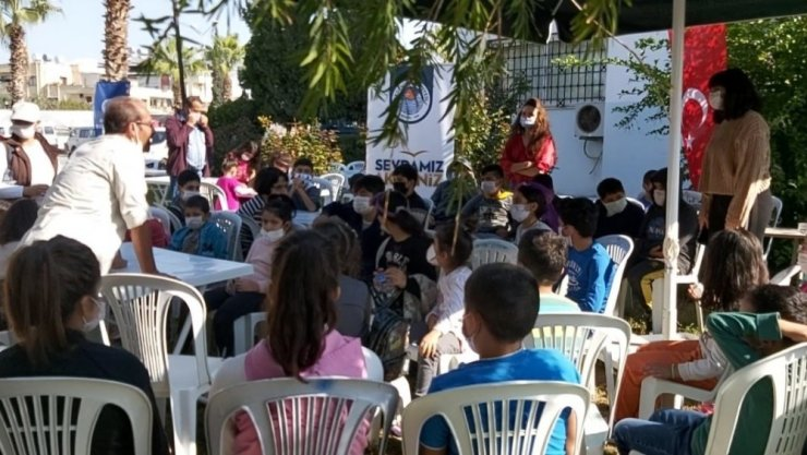 Akdeniz Belediyesi çocukları sanat spor ve felsefe ile buluşturuyor