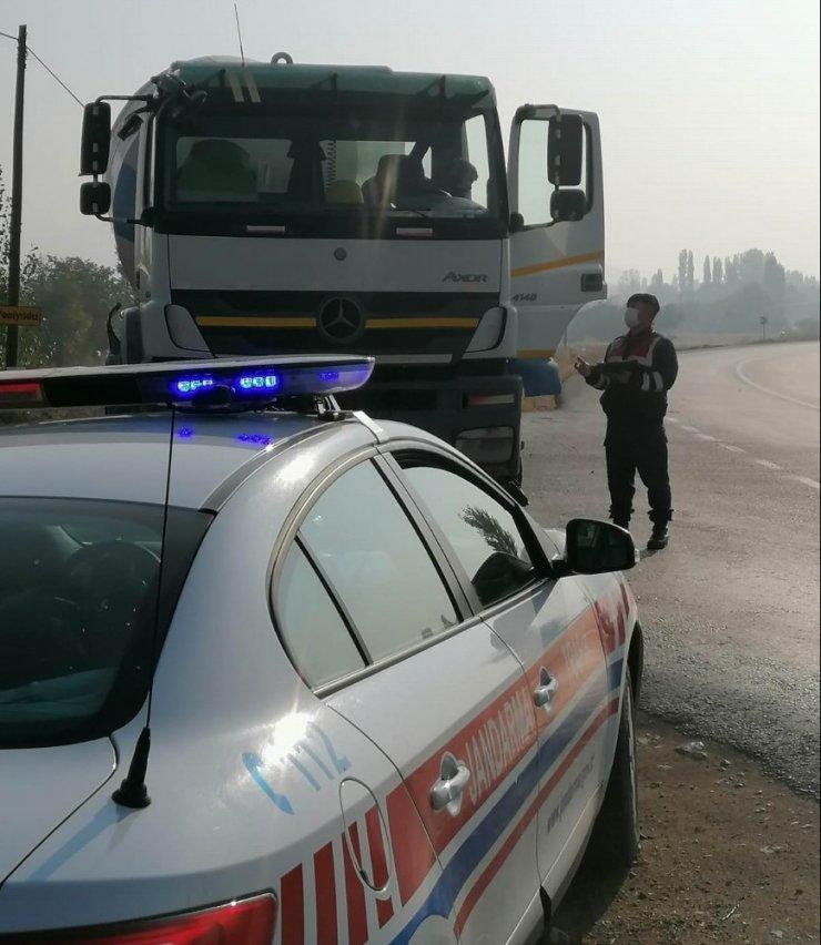 Jandarmadan ağır yük taşıyan araçlara denetim
