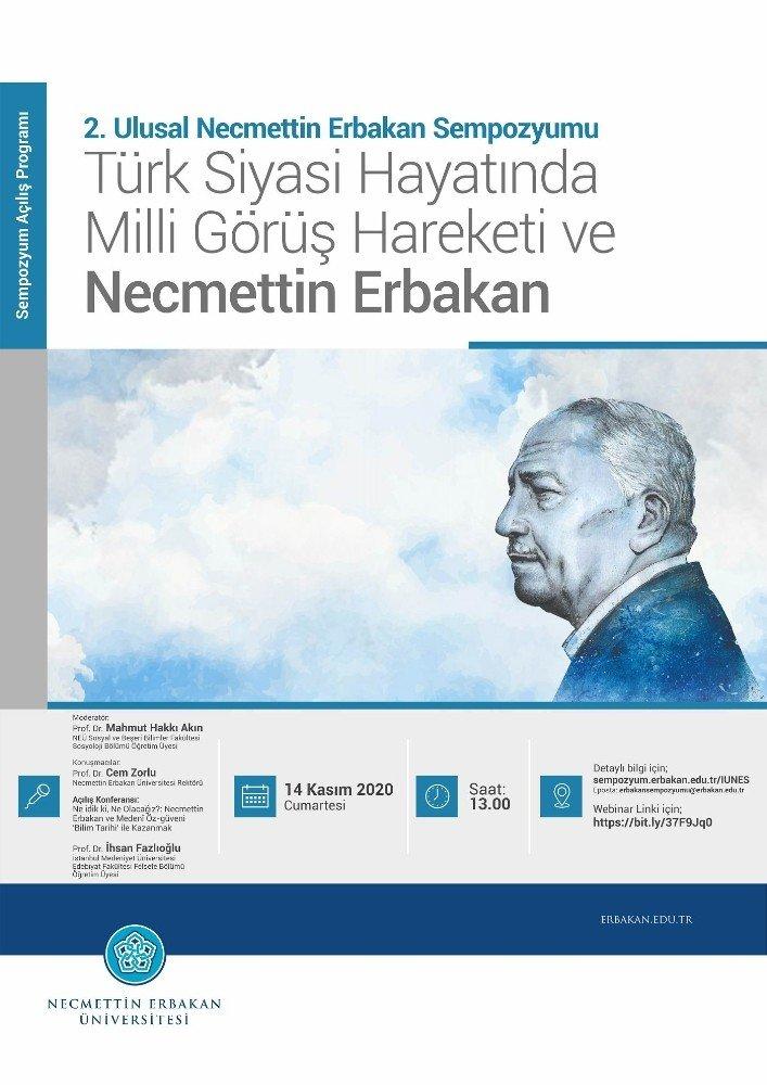 Ulusal Necmettin Erbakan Sempozyumu 14-15 Kasım'da gerçekleşecek