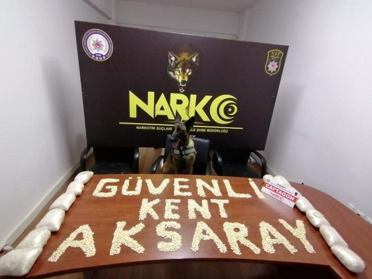Aksaray'da 70 bin adet uyuşturucu hap ele geçirildi