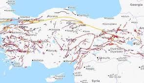 Türkiye fay hatları deprem haritası